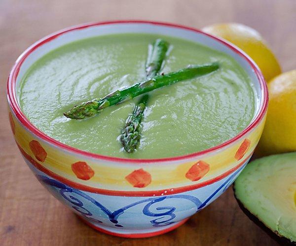 Soup Recipes Asparagus: Roasted Asparagus Avocado Soup Recipe