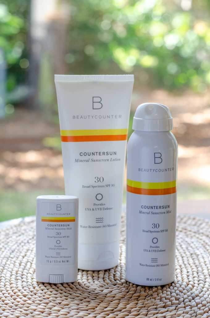 Mineral sunscreen lotion, spray and stick - Countersun from Beautycounter