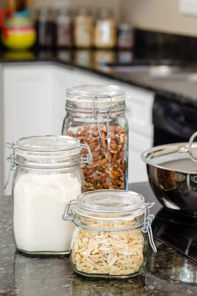 Healthy Non-Toxic Cookware and Kitchen Items - glass storage jars, stainless steel pan