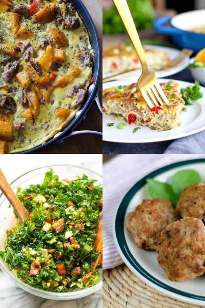 Whole30 Breakfast Recipes - Frittata, Quiche, Bowl, Sausage