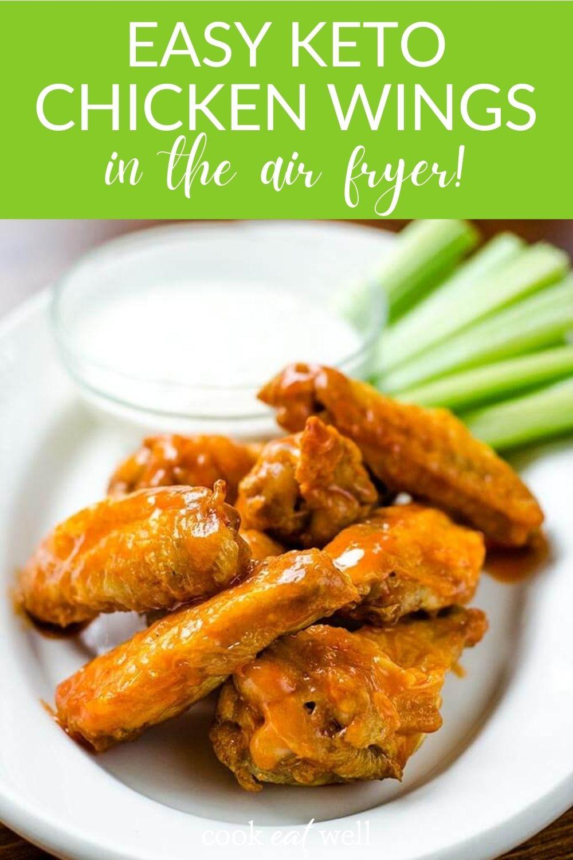 Best Air Fryer Chicken Wings Recipe (Keto, Paleo, Whole30)