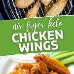 Air fryer keto chicken wings