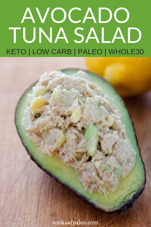 Avocado Tuna Salad (Paleo, Keto, Whole30)