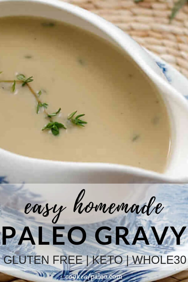 Easy Paleo Gravy (Keto, Whole30, Gluten Free)