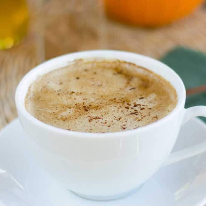 Pumpkin Spice Coconut Milk Latte (Paleo, Keto, Vegan