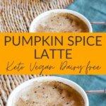 Pumpkin spice latte keto vegan dairy-free