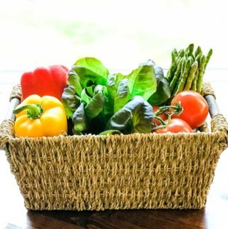 Basket of fresh paleo friendly vegetables