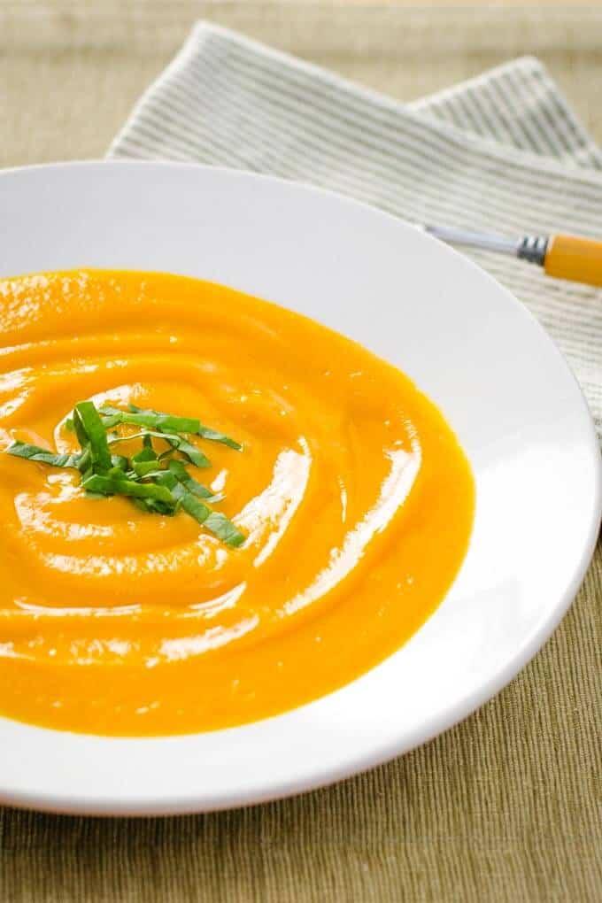 Sweet Potato Soup with Coconut Milk