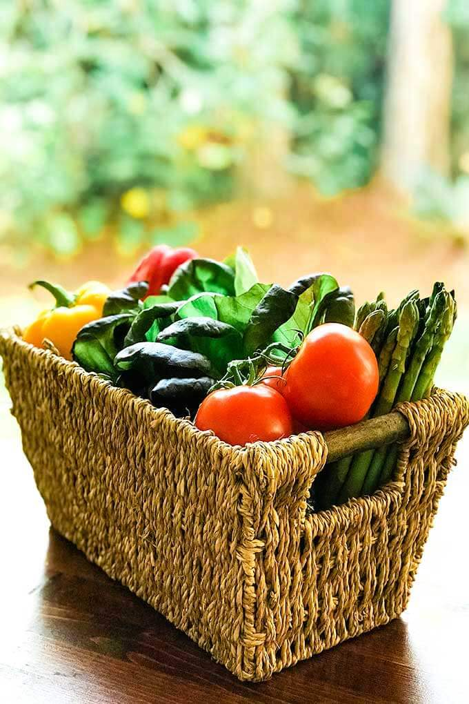 Basket of budget-friendly produce