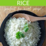 How to make cauliflower rice - perfect for meal prep!