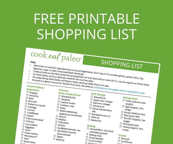 Free Printable Shopping List - Cook Eat Paleo Shopping List