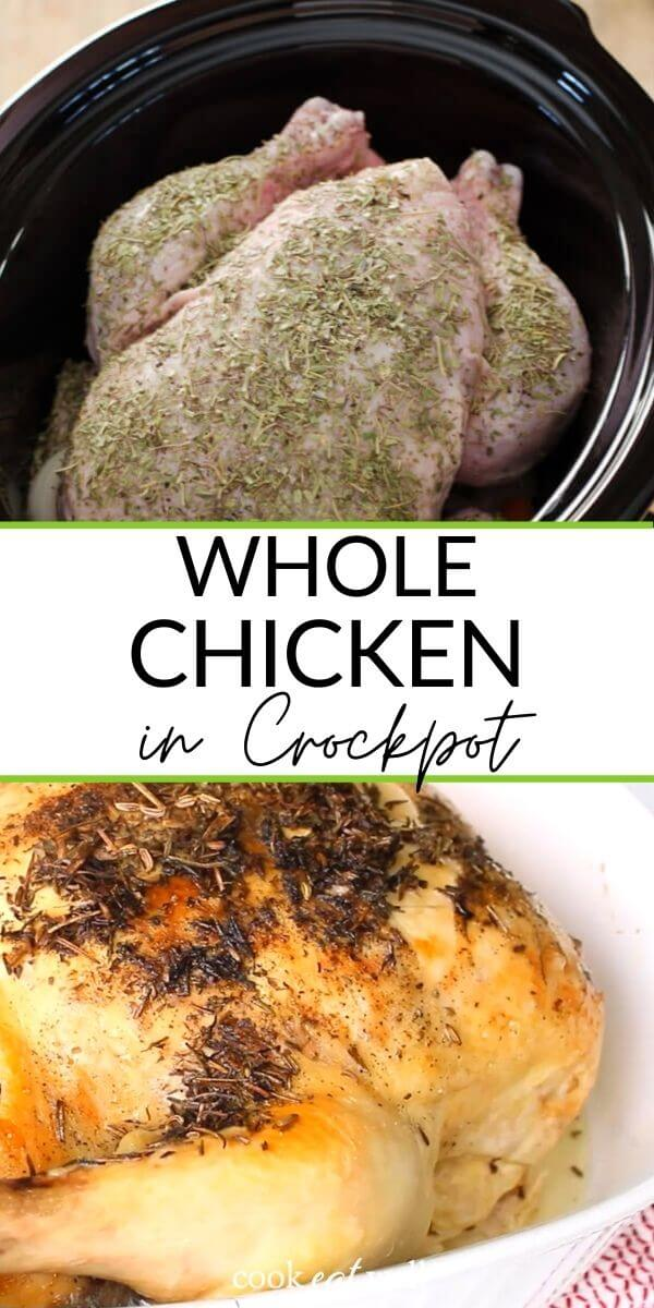 Crockpot Whole Chicken (Paleo, Keto, Whole30)