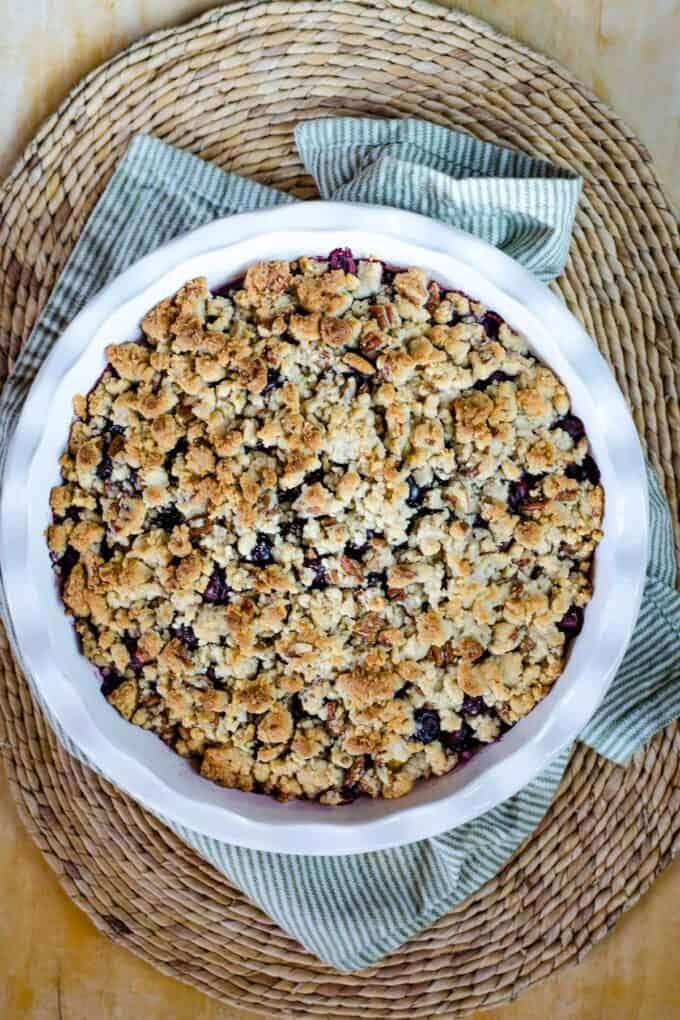 Gluten blueberry crisp