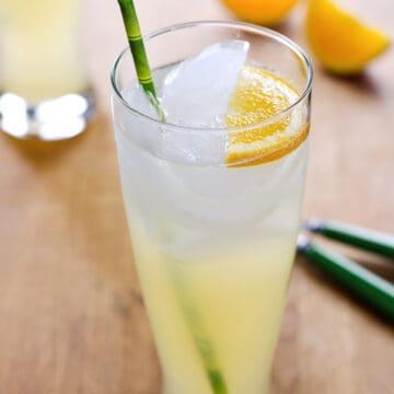 Honey lemonade with orange wedges