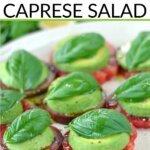 Easy avocado Caprese salad