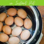 Hard boiled eggs in instant pot