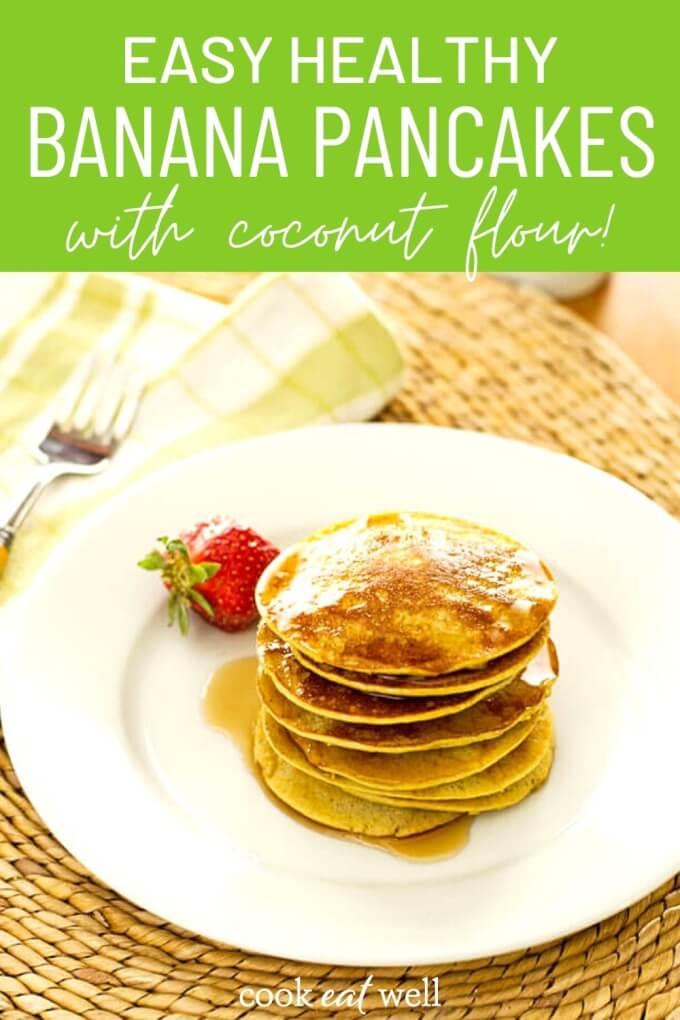 Healthy Banana Pancakes Recipe (Paleo, Gluten Free, Dairy Free)