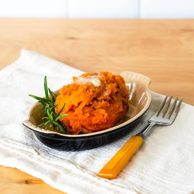 Instant Pot roasted sweet potato with rosemary