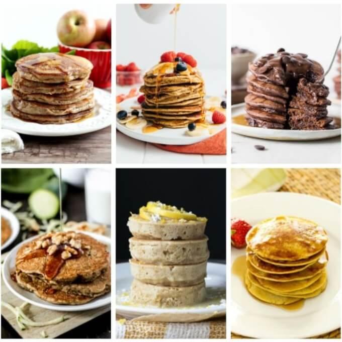 Stacks of gluten free pancakes
