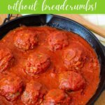 easy baked meatball recipe without bread crumbs