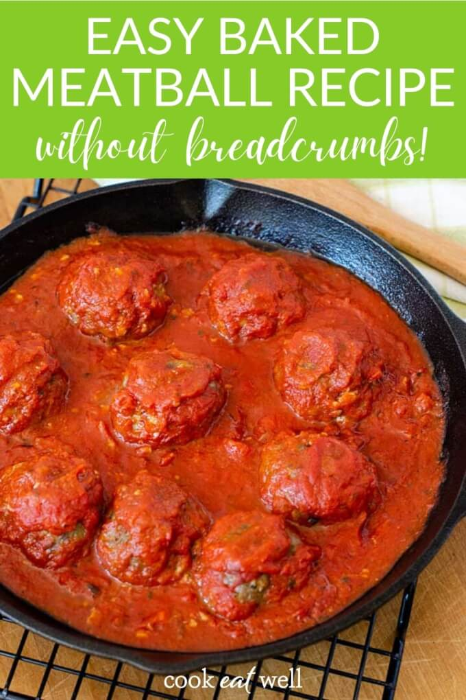 Easy Baked Meatballs Without Bread Crumbs (Gluten Free, Keto, Paleo)