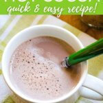 Low carb keto hot cocoa - quick and easy recipe!