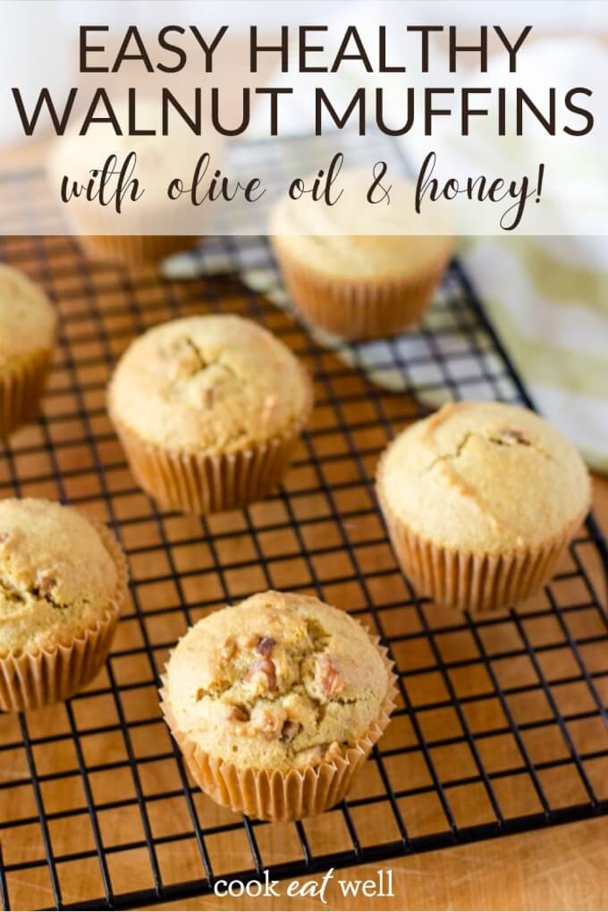 Walnut Muffins with Olive Oil & Honey