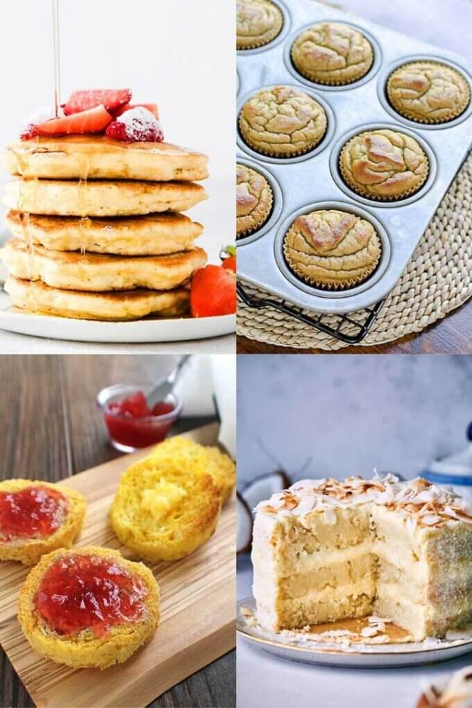 Coconut flour keto recipes: pancakes, muffins, bread, cake