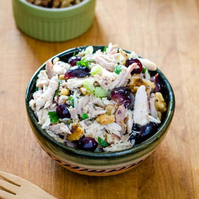 No mayo chicken salad with grapes